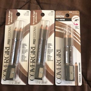 3 Covergirl Brow Pencils - 510 Soft Brown